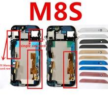 Для HTC One M8S ЖК-дисплей Дисплей дигитайзер сенсорный экран + Рамки Экран сборки M8s черный серебристый обувь золотистого и красного цветов Розовый Бесплатная доставка