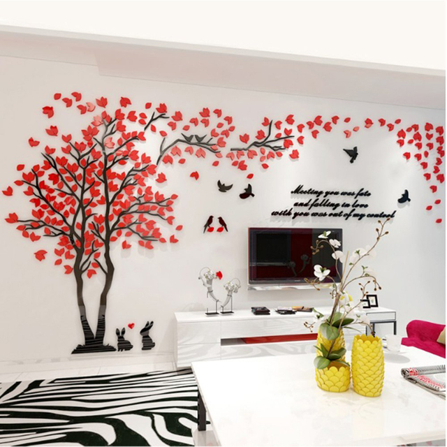 Practical 3d Wall Stickers Easy To Install Apply Diy Decor Sticker