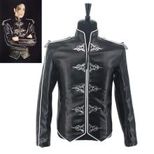 Горячая MJ Майкл Джексон Мужская куртка V8 ретро Англия черная кожаная куртка