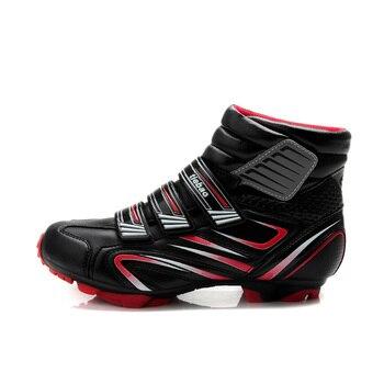 TIEBAO High Cut MTB Cycling Shoes, AutoLock Bike Shoes, Windproof Bicycle Shoes, Winter Cycle shoesM1430