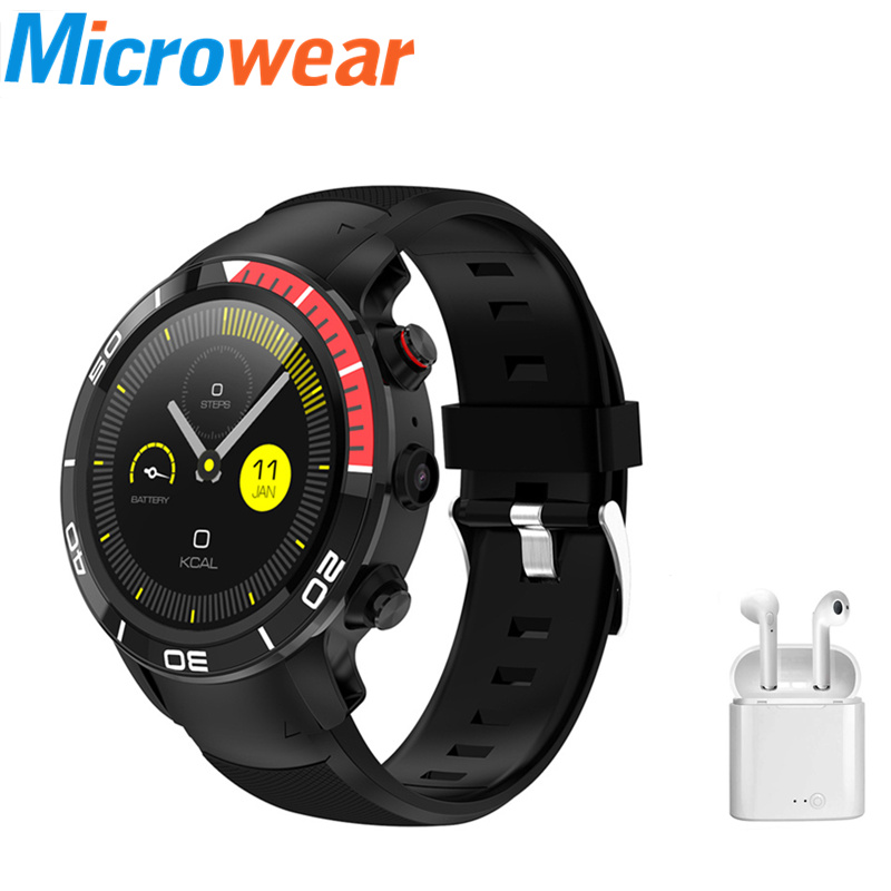 Original H8 Earphone set GPS 4G smartwatch IP68 waterproof heart rate monitor pedometer 16GB ROM Sports