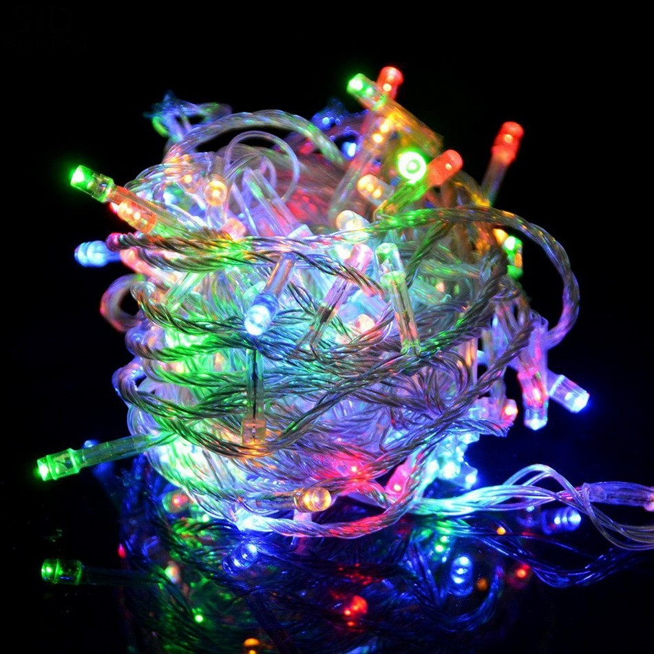 Multi-color Waterproof 20 Meters 200 LED Bulbs Holiday Fairy Light String Lights for Wedding Party Christmas Decoration UK Plug
