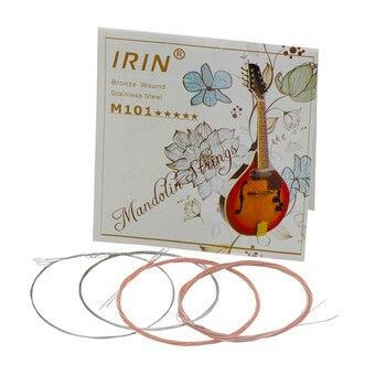 8 unids/pack mandolina cuerdas cadena conjunto E/D/G de acero inoxidable importado mercerizado cuerdas Accesorios para Instrumentos Musicales