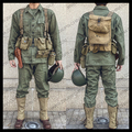 WW2 U.S. BAR Equipment Combination Uniform With M1928 M1911 US Green HBT Suits M1 First Aid US/501102
