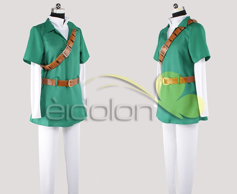 High Quality The Legend of Zelda Ocarina of Time Link Cosplay Costume Outfit Halloween Party Costumes for Women/Men Customize