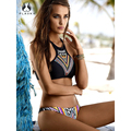 2017 summer Geometric high neck biquini micro swim wear bathing suit female swimwear women brazilian push up bikini set swimsuit
