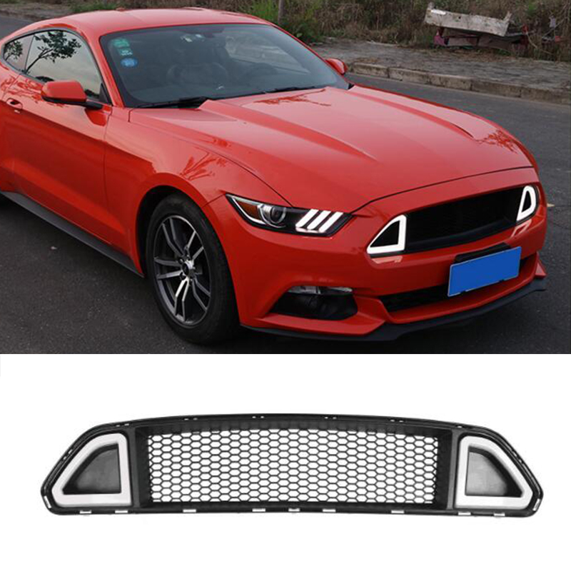 For Ford Mustang R Style Red Green White Led Front Bumper