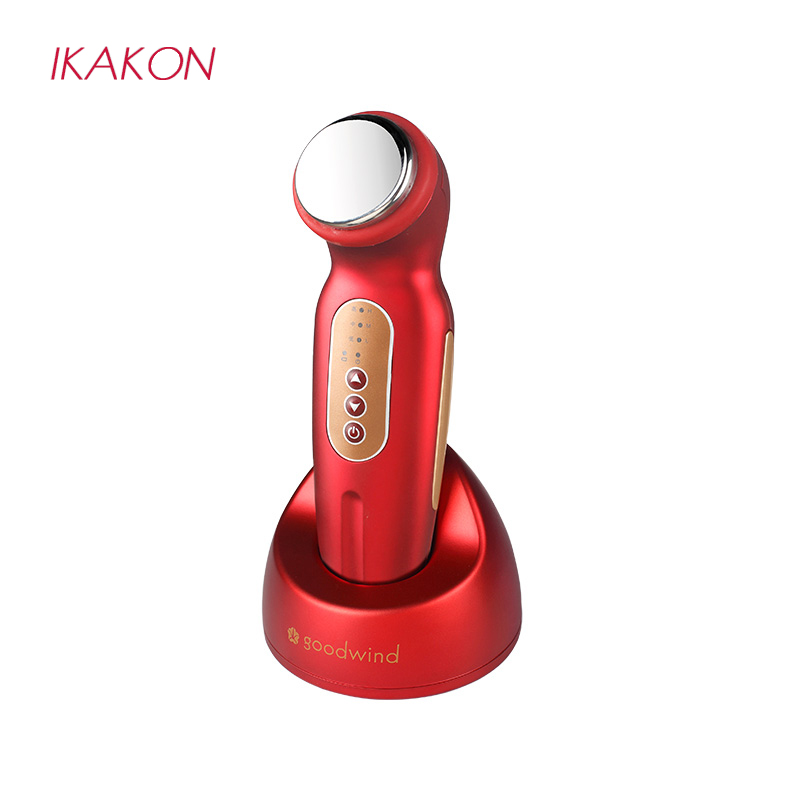 Portable Ultrasonic Ion Facial Beauty Skin Instrument For Facial Lift Care Face Skin Cleaner Wrinkle Remover Beauty Massage electric 3d silicone massage ultrasonic facial cleansing brush beauty instrument pores cleaner face vibration spa usb recharge