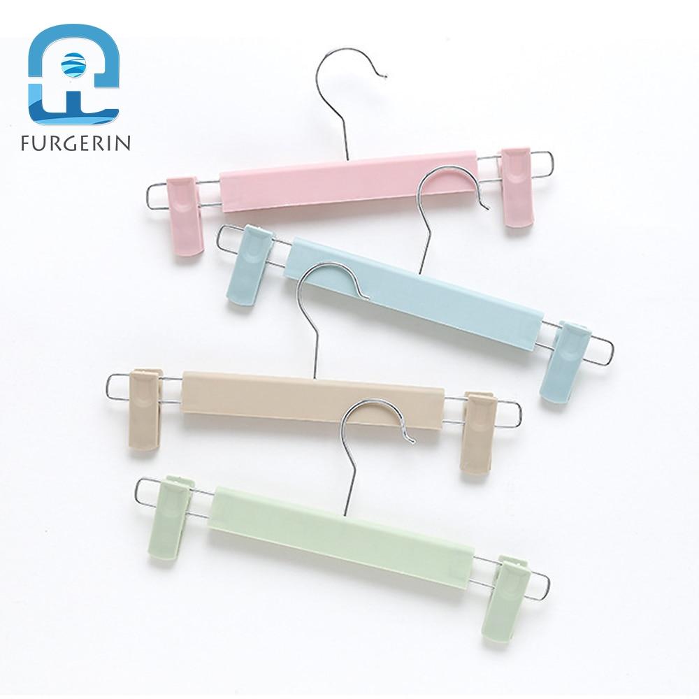 FURGERIN 5pcs/lot Clothes Hanger Wall Anti Slip Baby Hangers For Clothes Portable Clothes Hanger Kids Children Underwear Hangers