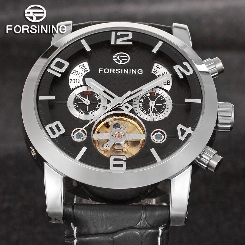 FORSINING Luxury Brand Tourbillon Wrap Mechanical Watch Fashion Men Automatic Wristwatches Casual Male Clock  Relogio Masculino цена и фото