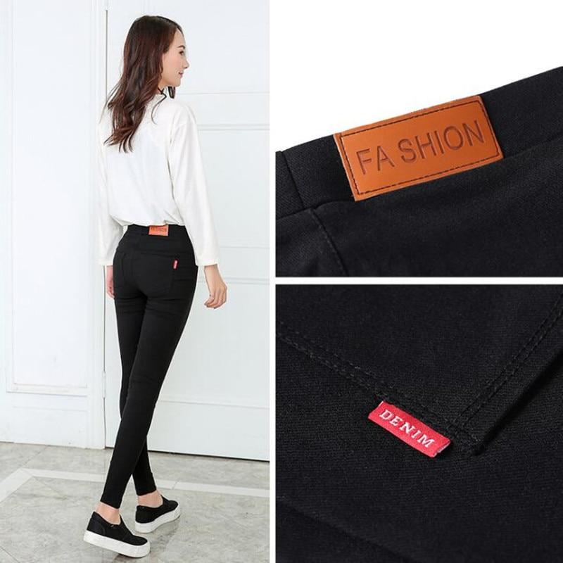 Fashion Women Casual Stretch Denim Jeans Leggings Jeggings Pencil Pants Black thickening Skinny Leggings Jeans Womens Clothing