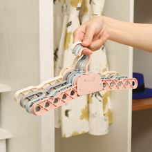 050 Multifunctional Portable and collapsible 10 holes dry wet clothes hanger 34.2*6cm