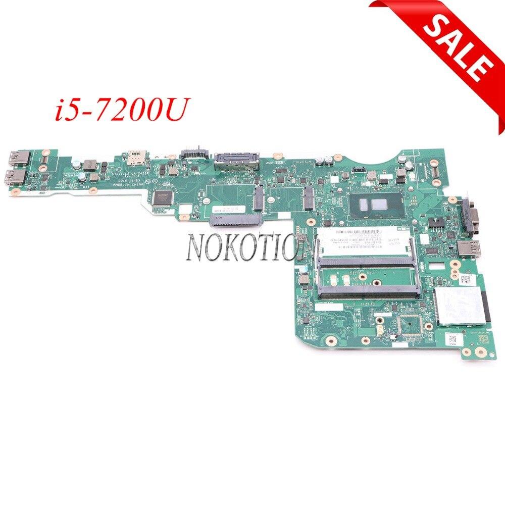 NOKOTION 01ER215 CILL1 L2 LA-C422P L570 15.6 polegada Laptop motherboard Principal board Para lenovo ThinkPad i5-7200U Intel GMA HD 620