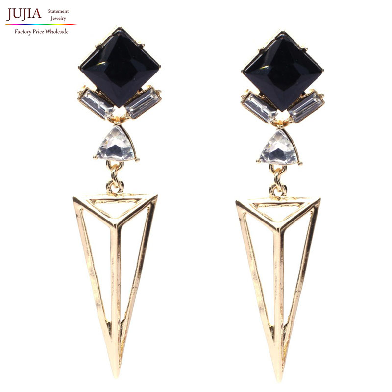 New 2017 one pair wholesale Trend fashion hot sale women vintage geometric shape Earrings