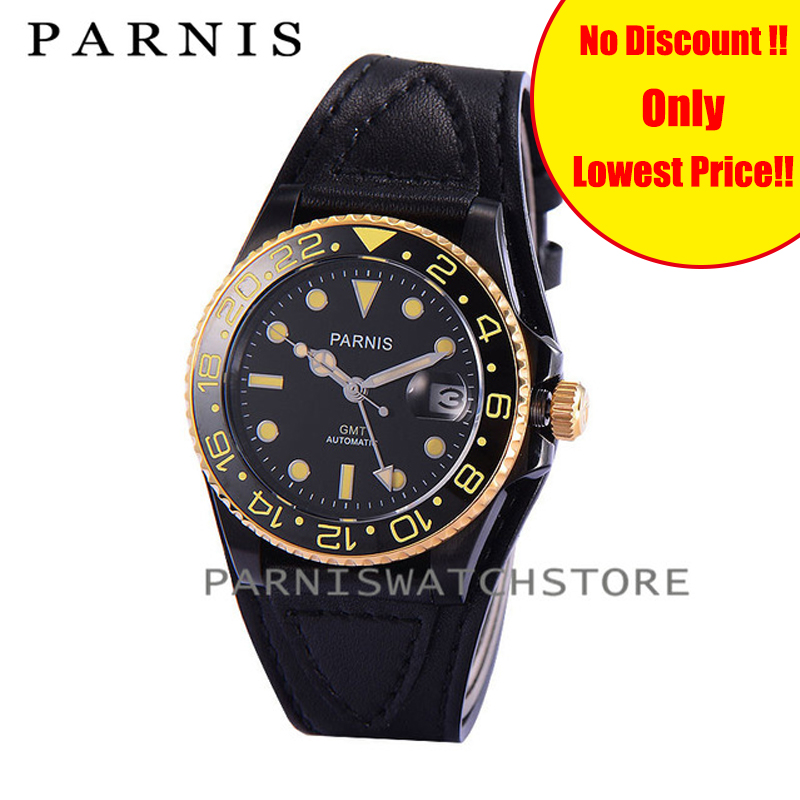 <font><b>Parnis</b></font> <font><b>40mm</b></font> <font><b>Watch</b></font> Men Designer Ceramic Rotating Bezel Sapphire Mens Automatic <font><b>Watches</b></font> Miyota Mechanical Movement <font><b>Watch</b></font> image