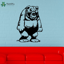 YOYOYU Wall Decal Vinyl Art Home Decor Decoration Funny Grizzly Bear Animal for Kids Removeable Sticker Mural YO497