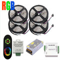 RGB strip light 5050 chips 60Leds/M SMD Flexible Led Strip 20M+18A Wireless Touch Remote Controller+24A Amplifier+20 A Power