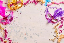 Laeacco Photographic Backgrounds Mask Ribbons Birthday Party Celebration Baby Newborn Photo Backdrops Photocall Photo Studio laeacco photographic backgrounds mask ribbons birthday party celebration baby newborn photo backdrops photocall photo studio
