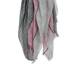 2016 Осенний шарф Куадрос Coloblock Sciarpe Новый дизайнерский мягкий ошейник из хлопка Basic Foulard Women's Big Size Scarves 205 x 80