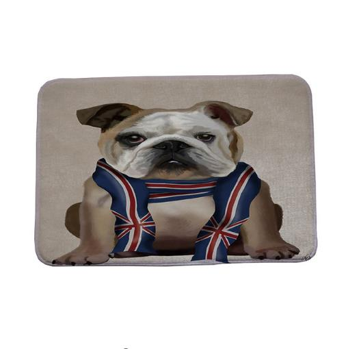 Cute Pug Spotty Dog Printing Carpet Stair Mats Anti-slip Floor Mat For Babies Animal Front Door Mat Bathroom Textiles