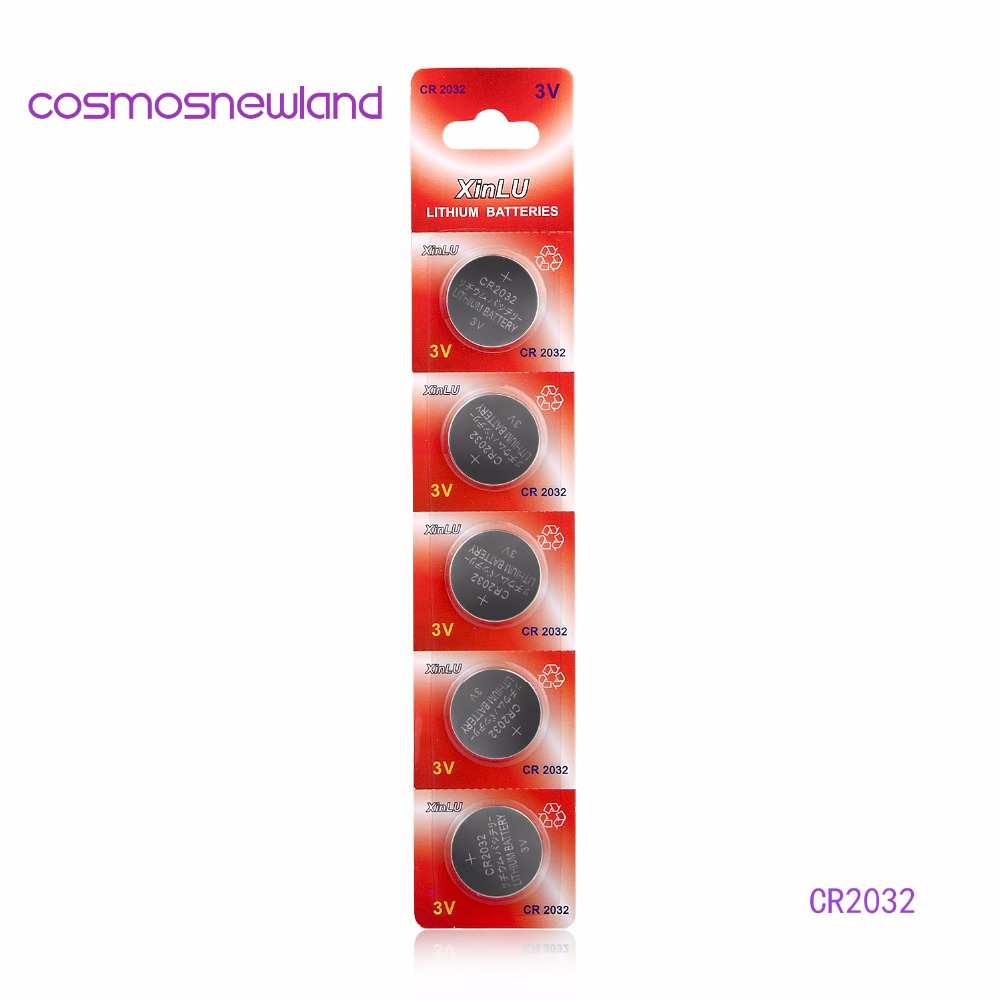 High quality 1lot 1pack 5PCS CR2032 DL2032 CR 2032 KCR2032 5004LC ECR2032 button cell coin Battery