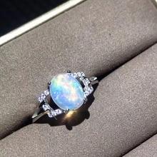 Naturale opal donna anelli cambia colore del fuoco misterioso 925 argento misura regolabile