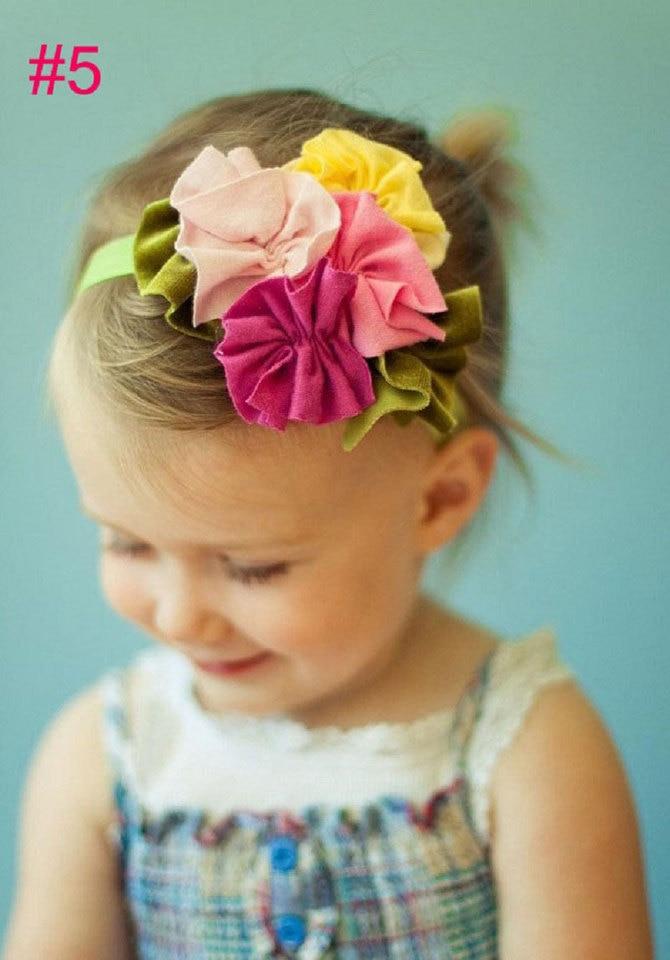 FM/_ AU/_ Newborn Baby Girl/'s Flower Pearl Headband Infant Toddler Knot Hair Band