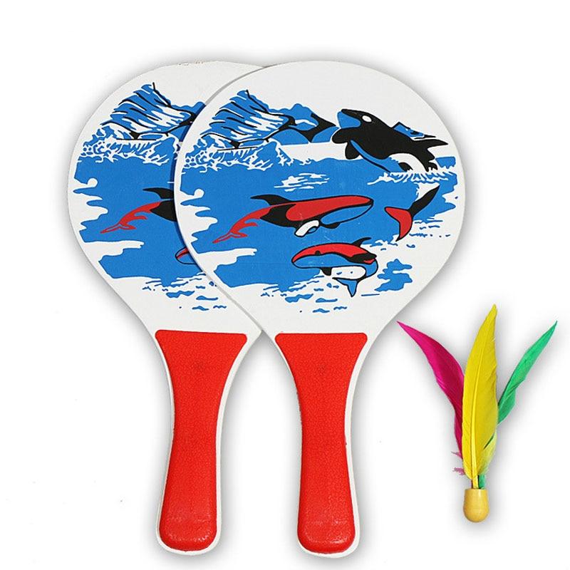 Cricket Badminton Racket 5MM Beach Badminton Racket Cricket Badminton Racket Triple Badminton Racket Sends One Ball