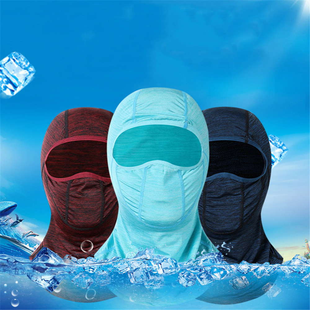 2019 Men and women ice silk sunscreen hood breathable hood outdoor sports bike running mask summer face shield quick dry 40M20 (1)