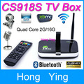 Hot! CS918S Android 4.4 TV BOX 5.0MP Camera Microphone Allwinner A31S Quad Core 2G/16G XBMC Bluetooth HDMI Media Player TV Stick