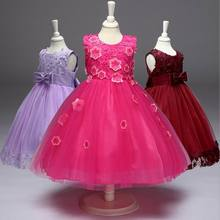 Retail 2017 New Children Wedding Party Dress Kids Dress For Girls Clothing For Communion Dresses For Girl 3-8T LL314