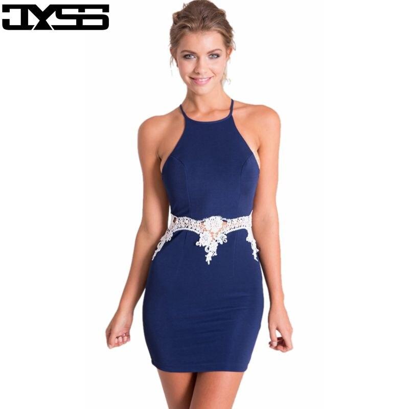 JYSS Europe et les États-unis d'été col rond sexy couture paquet hanche fronde robe 80592 #