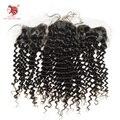"""1 pçs/lote lace frontal encerramento profunda curly top lace encerramento do cabelo humano peruca cheia do laço 130% density13 """"x4"""" livre grátis"""