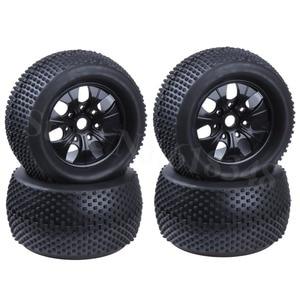 140mm Rubber RC 1/8 Monster Truck Tires Sponge Insert Hex Hexagon adapter 17mm For RC Off Road Model