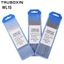 цена на 10pcs Gold head Lanthanated Tungste Electrode 1.6/2.0/2.4/3.0/3.2/4.0X150mm TIG Tungsten Welding Needle/Tungsten Rod/Solder Pin