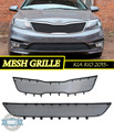 Mesh grille for KIA RIO 2015- car styling molding decoration protection chrome pad cover stainless