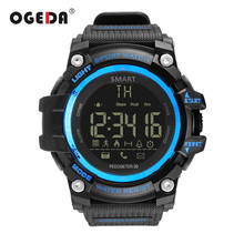 OGEDA Men Smart Watch Waterproof IP68 Swimming Ultra-long Standby Outdoor Bluetooth 4.0 Sport Smartwatch For IOS Android Phone