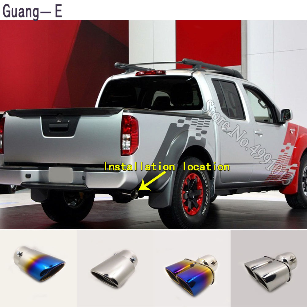 for nissan frontier 2017 2019 car stickers cover muffler exterior back end pipe dedicate exhaust tip tail outlet ornament 1pcs