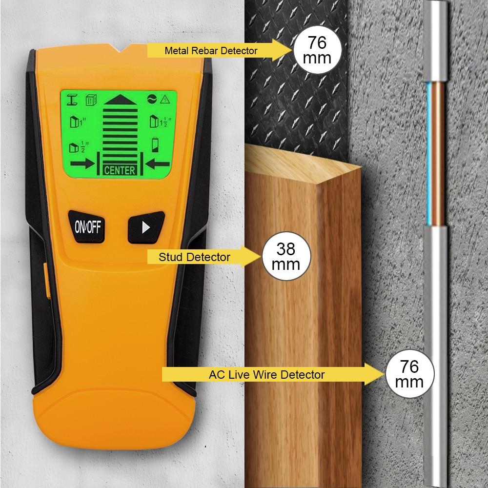 3 In 1 Metall Detektor Finden Metall Holz Studs Ac Spannung Live Draht Erkennen Wand Scanner Elektrische Box Finder Wand Detektor Gute Begleiter FüR Kinder Sowie Erwachsene
