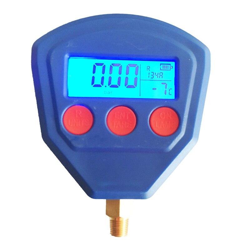 1/8Npt Manifold Único Digital Medidor de Pressão de Vácuo R22 R410 R407C R404A R134A Ferramenta de Refrigeração De Ar Condicionado