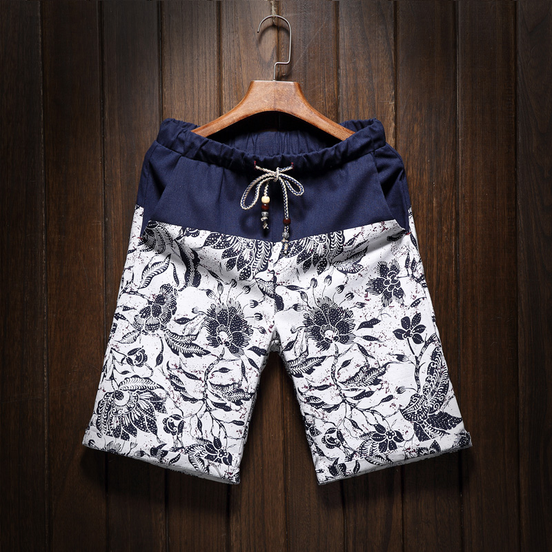 Men S Casual Linen Shorts Fashion Style And Comfortable Breathable 2016 Summer New Splicing Men Beach