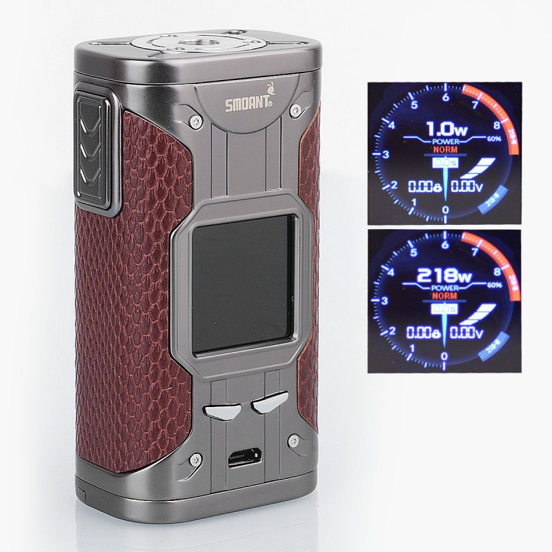 Original Smoant Cylon 218W TC Temperature Control VW Variable Wattage Dual 18650 Box Vape Mod for RDA / RTA / RDTA Atomizer