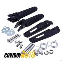 Black Motorcycle Front Rear Foot Pegs Footrest For Honda CBR 600 RR 2003 2004 2005 2006