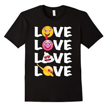 Valentine's Heart Eyes Emoji T-Shirt Men