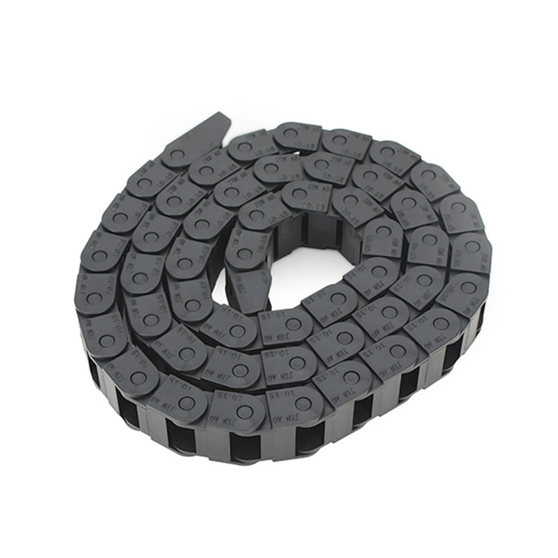 1pc 10x15mm Reinforced Nylon Plastic Cable Drag Chain Wire Carrier Length 1000mm For CNC Router Machine