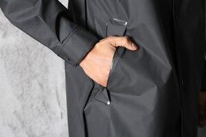 Image 3 - EVA Schwarz Erwachsene Regenmantel Alan Walker Muster Im Freien männer Lange Stil Wandern Poncho Umwelt regen mantel