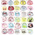 Free  Shipping Baby Towel Saliva Waterproof New Kids Cartoon Pattern 3 Layer Toddler Lunch Bibs Drop Shipping