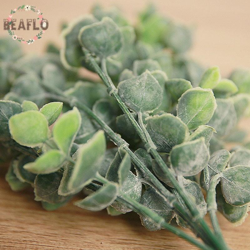 1pc plastic bladeren kunstmatige plant voor bruiloft decoratie diy - Feestversiering en feestartikelen - Foto 3