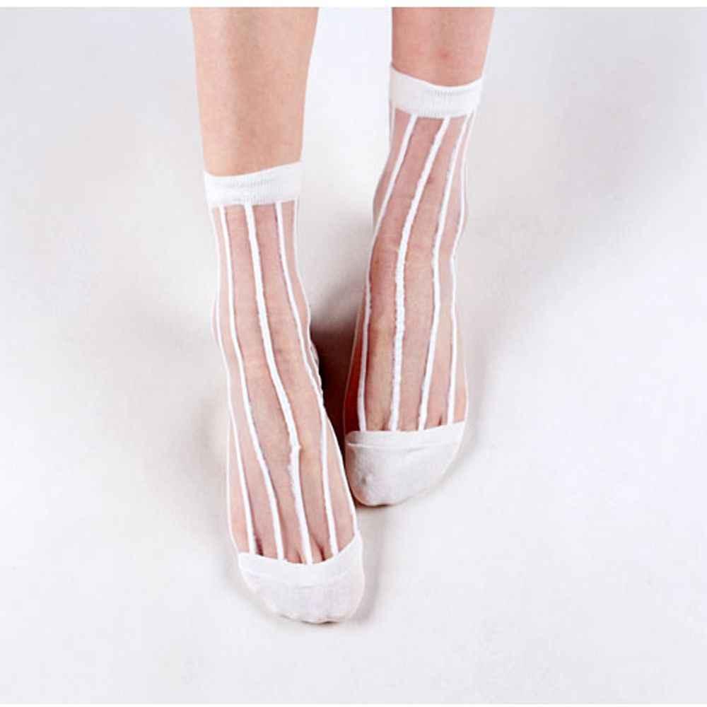 2020 Vrouwen Harajuku Ademend Transparante Mesh Stippen Sokken Sexy Dames Netto Garen Visnet Dots Sokken Vrouwelijke Kousen Sox