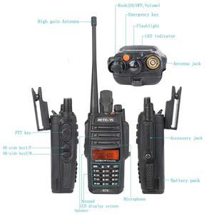 Image 4 - Retevis RT6 עמיד למים ווקי טוקי IP67 5W 128CH Dual Band VHF UHF רדיו VOX FM LCD תצוגת Walk נייד דיבור מכשיר קשר